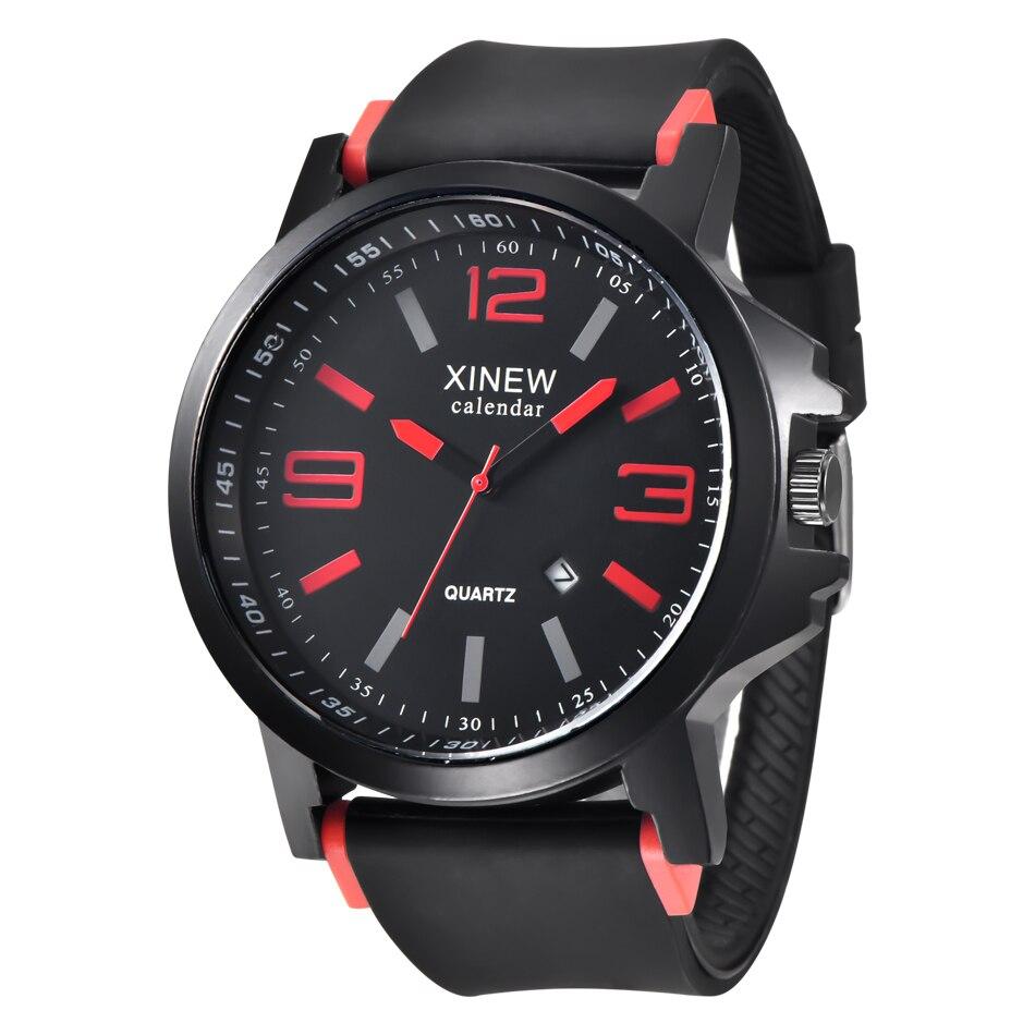 New 2016 Fashion Quartz Watch Men Military Silicone Strap Watches Luxury Brand Casual Relogio Masculino Wristwatches
