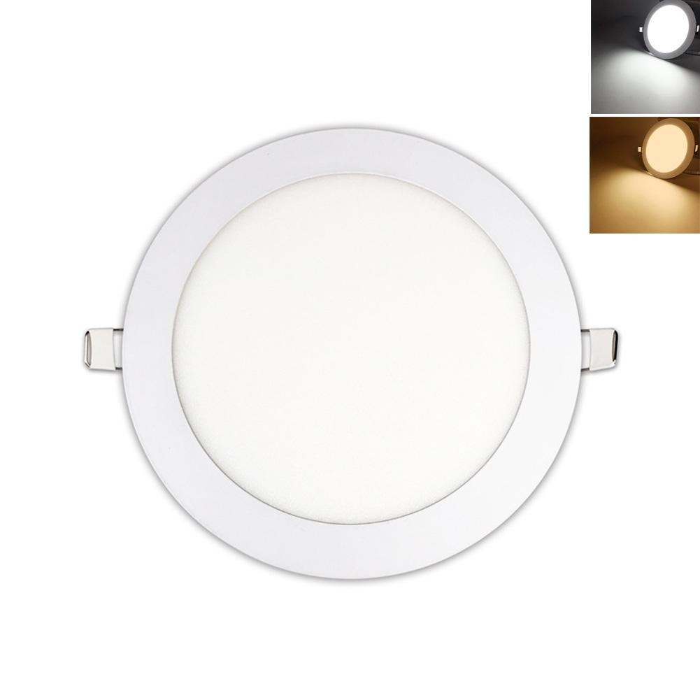 Ausdauernd Ac 100 V-260v Led Downlight Runde Ultra Dünne Panel Licht 3 W 6 W 9 W Led Decke Licht Für Küche Bad Schlafzimmer Wohnzimmer