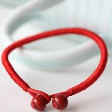 Fashion 1PC New Ethnic style boho Red Women Bracelets Lucky String Ceramic Handwork Weave Gift Keepsake Simple Jewelry