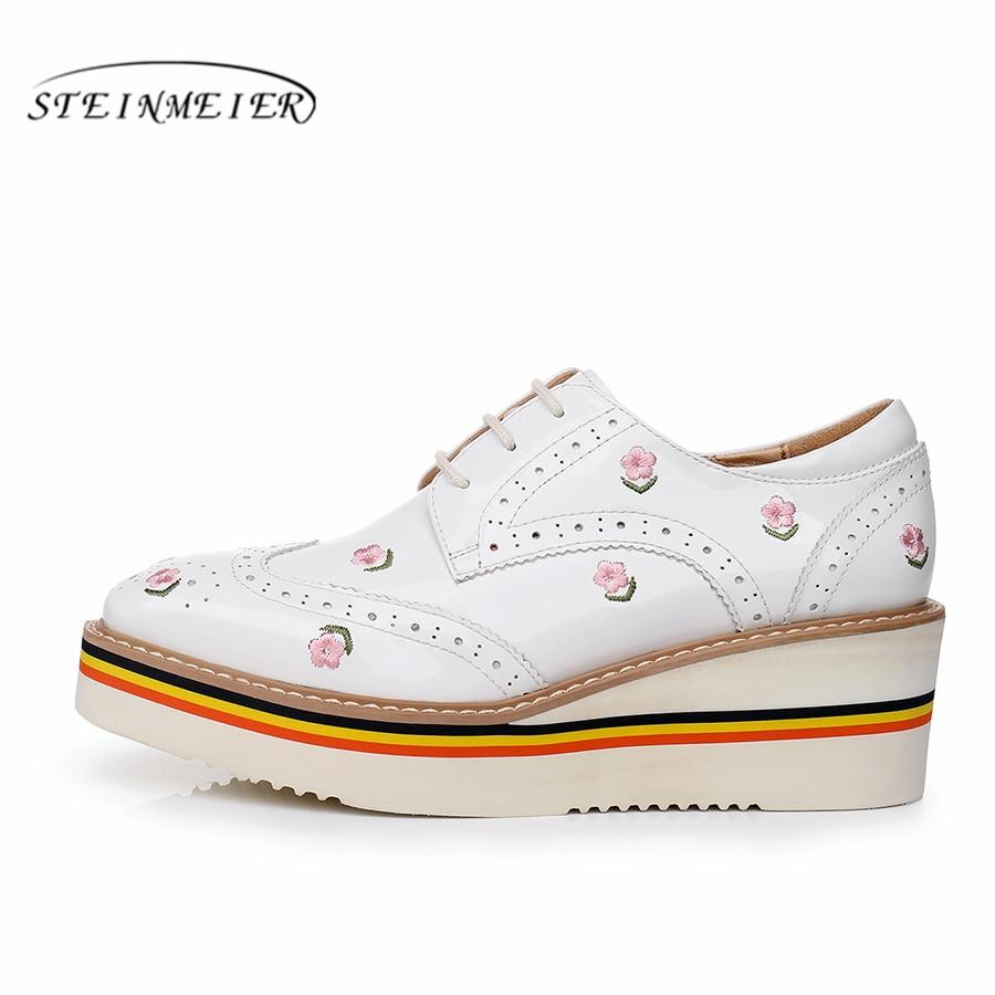 Yinzo المرأة الشقق أكسفورد أحذية امرأة جلد طبيعي منصة أحذية رياضية السيدات تصليحه خمر حذاء كاجوال ل احذية نسائية-في أحذية نسائية مسطحة من أحذية على  مجموعة 2