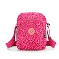 2016 nuevas mujeres ocasionales bolsas chicas de nylon hombro bolso crossbody marca pink leopard mujer bolsos mensajero de las mujeres