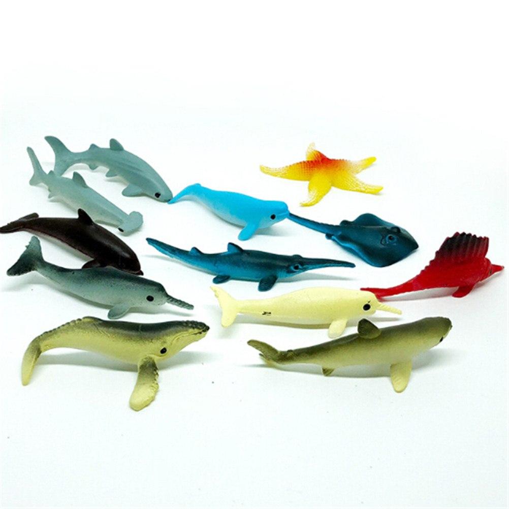Wholesale 5Pcs/Set Plastic Sea Marine Animal Figures Ocean