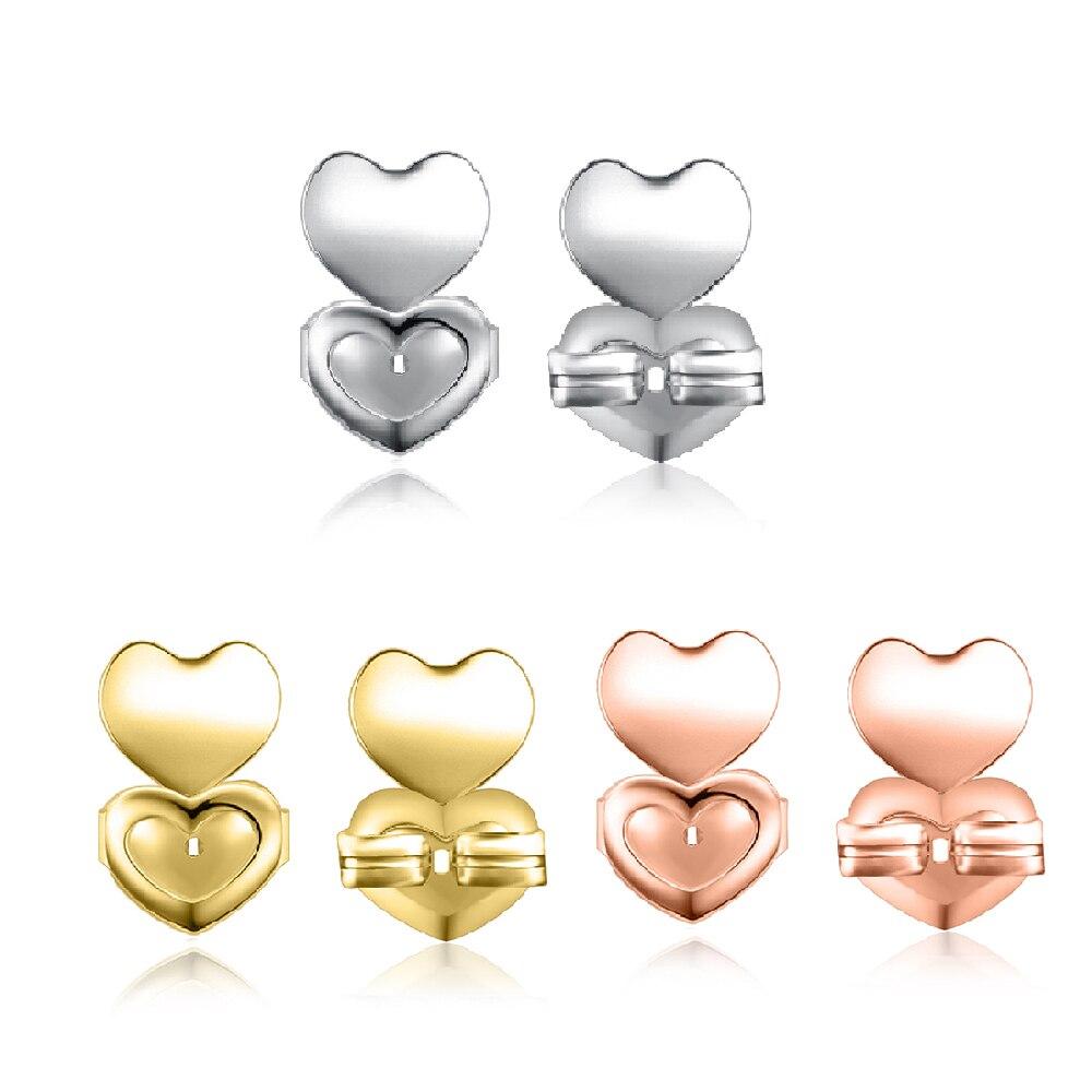 50-150 pièces/ensemble boucles d'oreilles à l'arrière écrou Lifter ascenseur hypoallergénique toutes les boucles d'oreilles de poste Earlobe s'adapte boucles d'oreilles Support pour les femmes