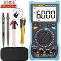 BSIDE ZT-M0 умный Ручной цифровой мультиметр ЖК-дисплей 6000 отсчетов напряжение квадратная волна Выходная Емкость тестер батареи DMM