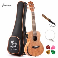 Donner EQ 26 inch Mahogany Body Solid Electro acoustic Ukulele Electric Tenor Ukulele DUT 4E