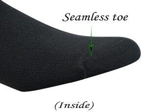 Image 3 - Uomini calzini 5 Paia di Bambù Non vincolante Piatto Alla Caviglia In Maglia Diabetici/calze Vestito con Senza Soluzione di Continuità Punta (grande e grosso disponibili)