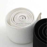 Высокое качество 25 мм ширина * 10 м длина/рулон черный, белый прочная резинка-лента для одежды