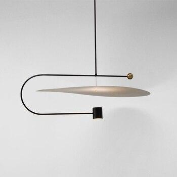 Постсовременный минималистичный Led подвесной светильник лаконичный дизайн ресторан столовая студия подвесные светильники Бесплатная дос...
