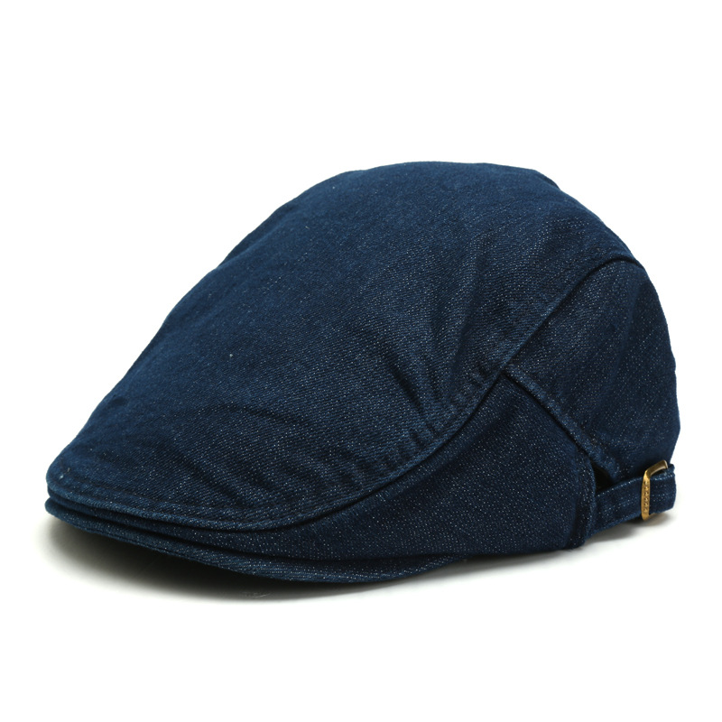 2019 Male Autumn Winter Solid Hats Denim Flat Hats Beret Cap Men Adjustable Newsboy Caps 3 Colors Fixing Prices According To Quality Of Products