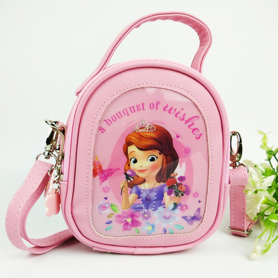 Disney Congelado Princesa Bolsa Saco Corpo Cruz Saco Mochila para Crianças Bebê Menina