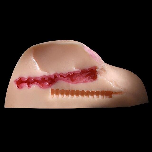 Muito Realista Realista Sentimento Real Artificial Vagina & Anal Produtos Do Sexo Para O Homem, Ejacular Bunda Grande Masturbador Brinquedos Sexuais