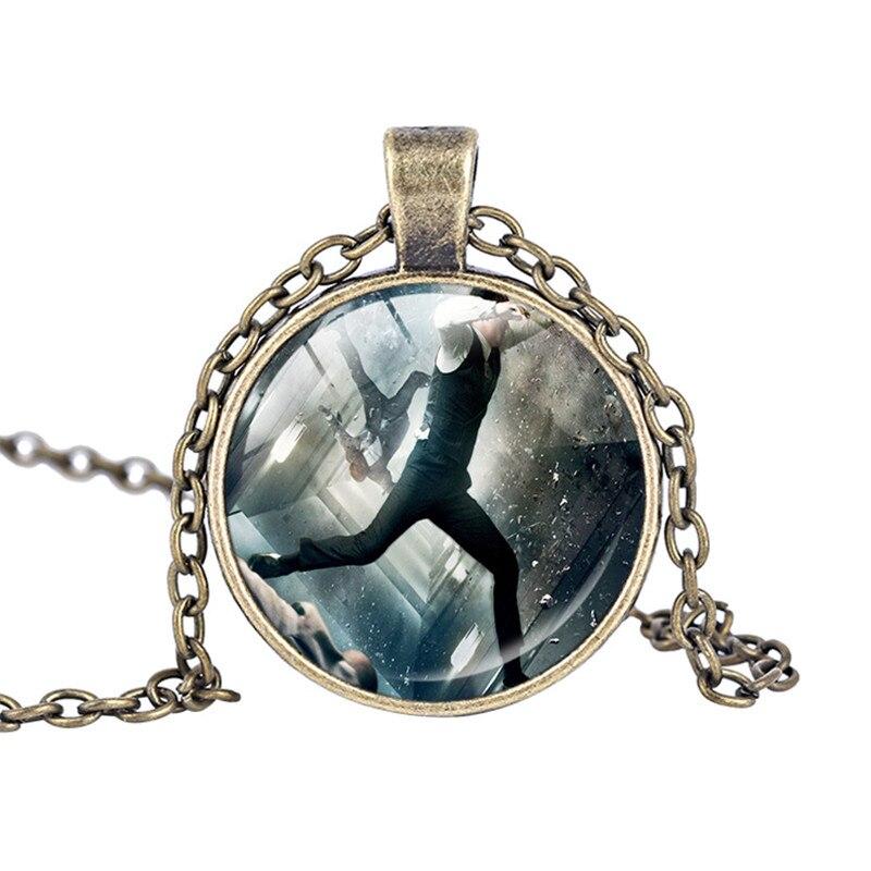 Inception jewelry necklace Joseph Gordon Levitt Leonardo Dicaprio photo pendant Glass Round Dome pendants trendy necklace