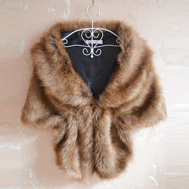 145*30 см Мода Элегантный Теплый Шарф Женщины Свадебное Искусственного Меха С Длинным Шаль Украл Пожимания Плечами Обруча Шали Шарфов Wrap # LSN