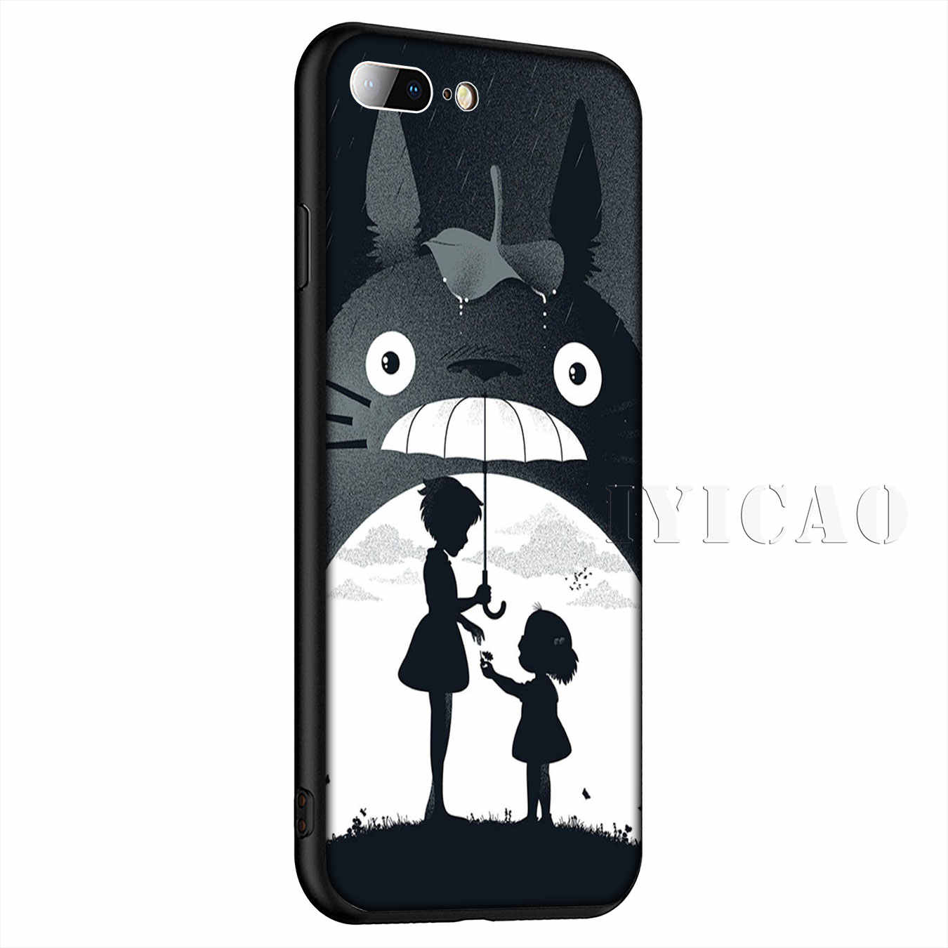 น่ารัก Totoro Chihiro Ghibli Miyazaki อะนิเมะซิลิโคนนุ่มสำหรับ iPhone 11 Pro Max XR X XS สูงสุด 8 7 6 6S Plus 5 5S SE