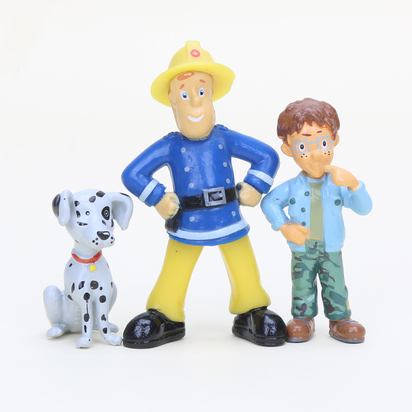 2.5-6cm 12pcs/set Fireman Sam Cute Cartoon PVC Action