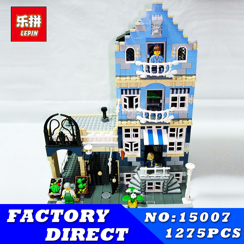 DHL City Street LEPIN Factory European Market Model Building Block Set Bricks Kits Compatible Children Toys Gift Educational Toy a toy a dream lepin 15008 2462pcs city street creator green grocer model building kits blocks bricks compatible 10185