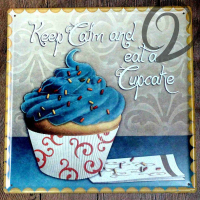 Keep Calm Eat A Cupcake Tin Plate 30 30 Cm Home Bar Pub Cafe Restaurant Decor