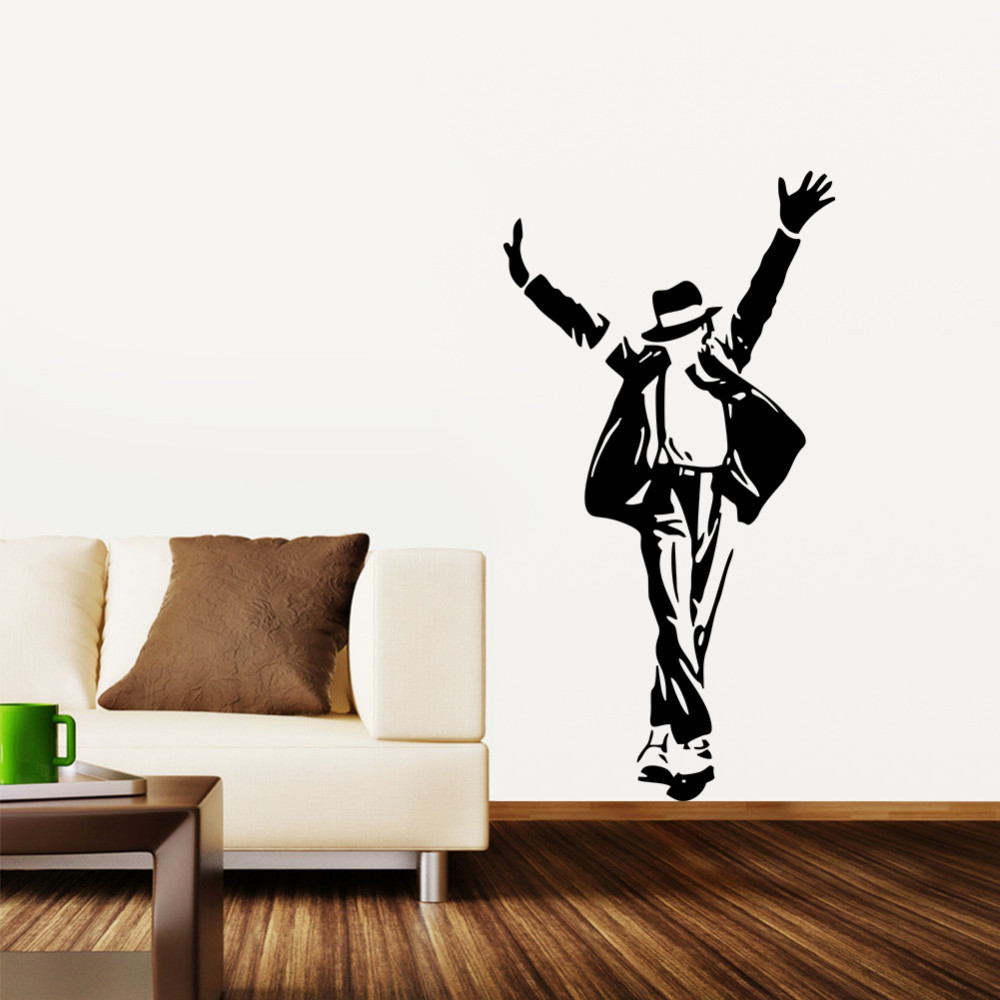 Hot Michael Jackson Removable Wall 3d Sticker Wall Decor Decal Art