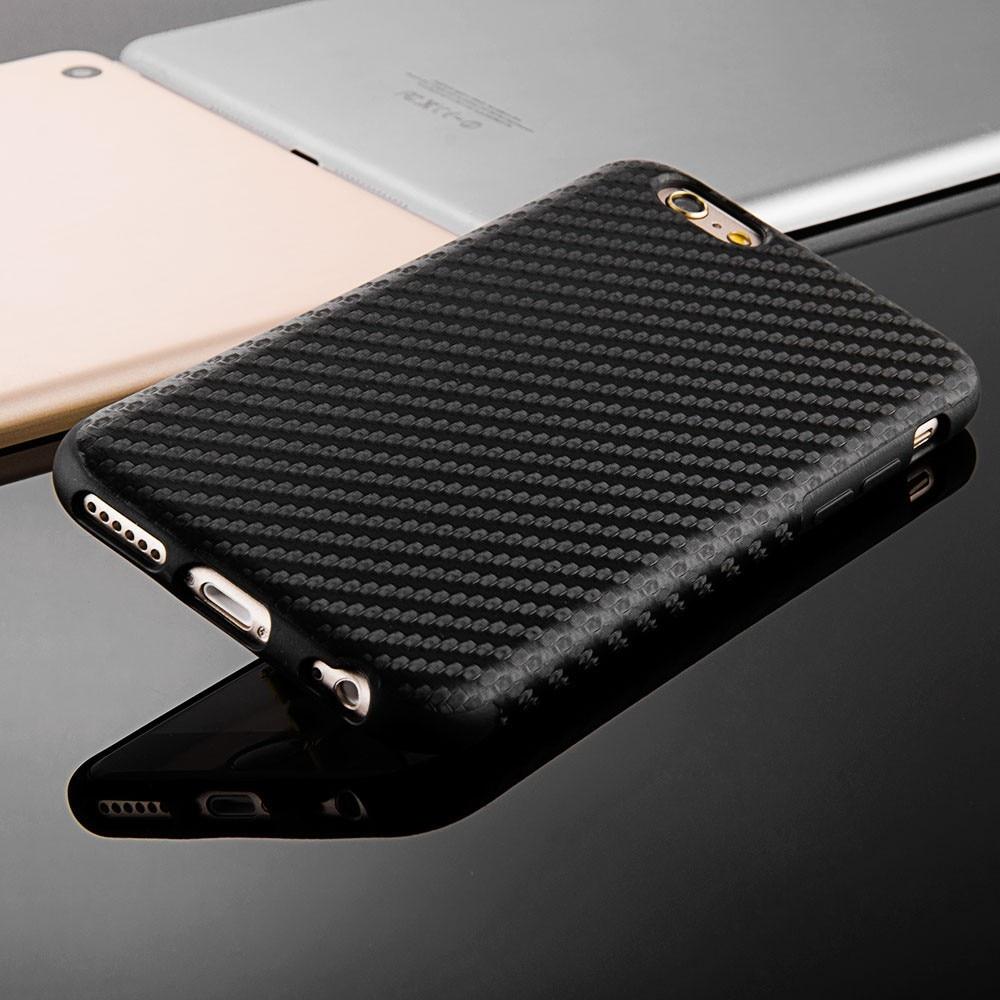 Փափուկ TPU ածխածնային մանրաթել ծածկ ՝ - Բջջային հեռախոսի պարագաներ և պահեստամասեր - Լուսանկար 3