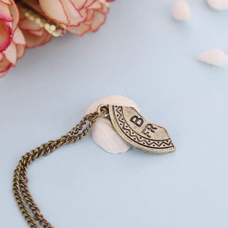 Broken Heart 3 Parts Puzzle Bronze Pendant Necklace Best Friends ...