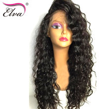Elva Hair Lace Front Human Hair Wigs For Black Women Pre Plucked With Baby Hair Water Wave Brazilian Remy Hair Wig Natural Color
