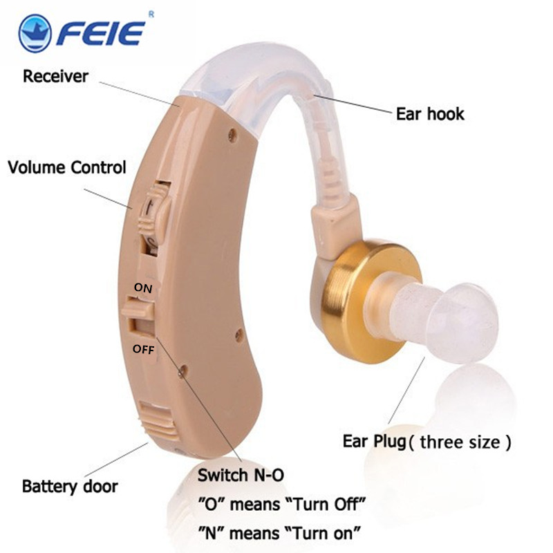 S-139 Wireless Hearing AIDS Behind The Ear Hearing Aid Kit BTE Sound Voice Amplifier Min Size Audiphone Deafness Hearing Headset bte headset hearing aids s 137 medical equipment sound voice amplifier for hearing impaired free shipping