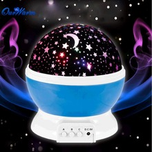 Moon Star Projector Lamp Rotating Projectors Cosmos Nightlight Romantic Lamp Kids Bedroom Decoration