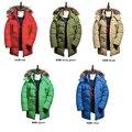 Белая утка вниз мальчики зимняя куртка девушки куртка 2015 новые поступления детей и пиджаки меха с капюшоном длинное пальто размер 910 12 лет