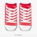 Холст обувь Графический 3D Full Печати Женщины Мужчины Девушки Милые мужская Low Cut Носки Несколько Цветов Хлопка носок Случайные чулочно-носочные изделия
