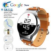 2018 Fashion Cowhide Strap Smart Watch Weather Live Google Map 3G Phone Mic Pedometer Bluetooth Heart Rate Smart Band SIM WIFI