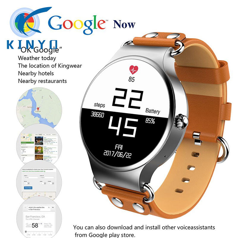 2018 mode Rindsleder Band Smart Uhr Wetter Live Google Karte 3g Telefon Mic Schrittzähler Bluetooth Herzfrequenz Smart Band SIM WIFI-in Smart Watches aus Verbraucherelektronik bei  Gruppe 1