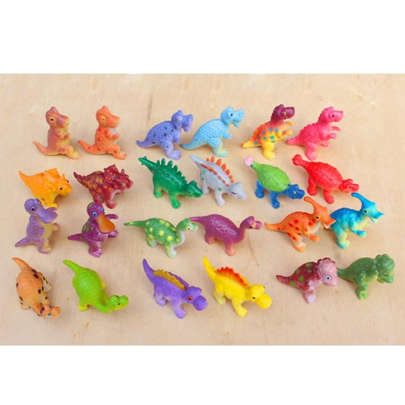 24 Pcs/Set Dinosaur model toys Set Kids Gift Simulation Wild Animal Toys