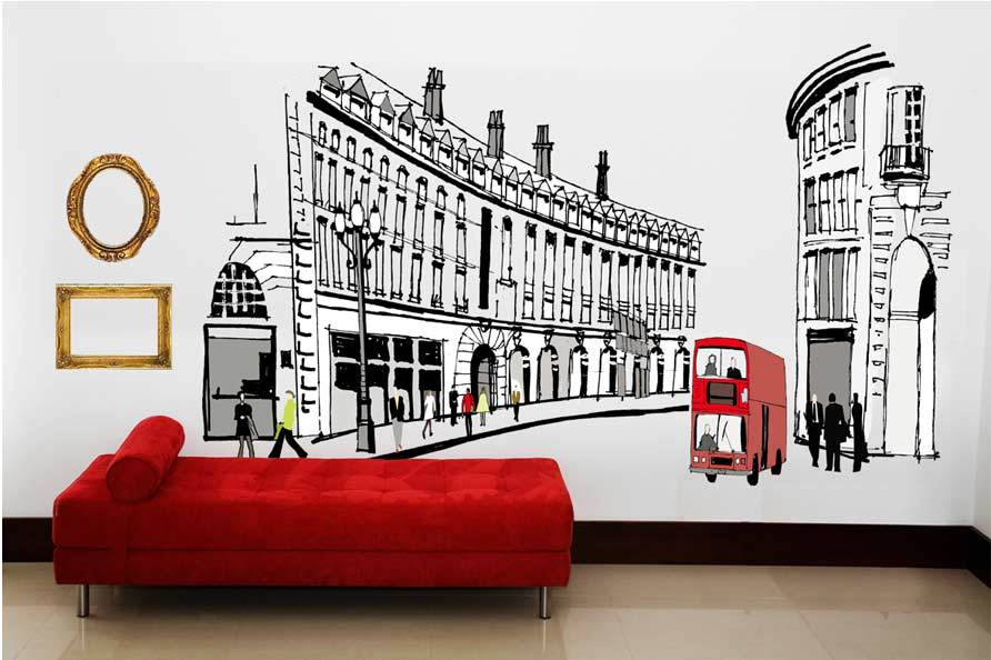 High Quality Britain City Removable Wall Stickers Vinyl Kids Decor Home Wall  Paper Sticker New,Big 100cm*68cm 1911 In Wall Stickers From Home U0026 Garden  On ... Part 17