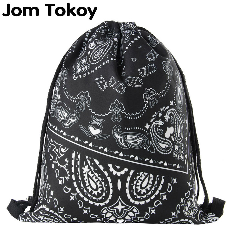New Women Drawstring Bag Printing Backpack Fashion Shoulder Bag Casual Schoolbags Mochila Men's Backpacks Graffiti Unisex