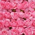 36 шт. 1 см Мини Искусственные бумажные розы, цветы для свадебного украшения, венок «сделай сам», подарок, скрапбукинг, ремесло, искусственные ...