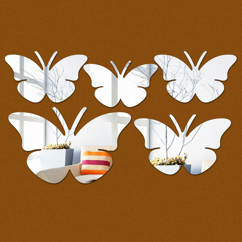 direct selling gift butterfly acrylic mirror 3d multi ...
