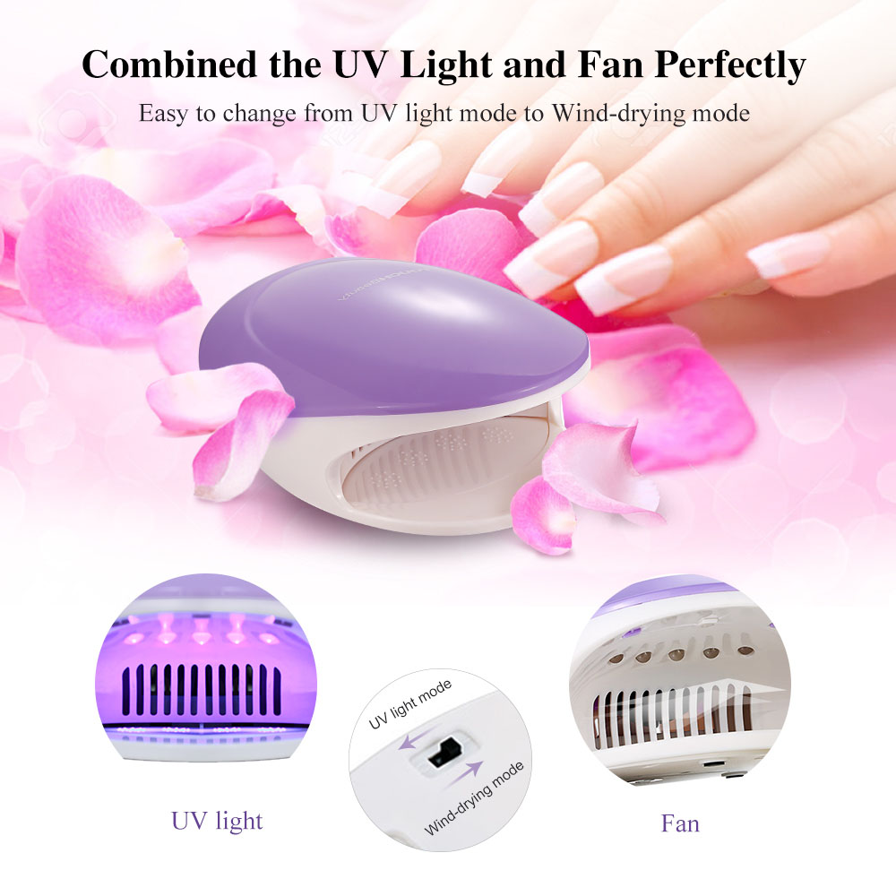 TOUCHBeauty 2 in 1 UV Light & Air Nail Dryer with Automatic Press ...