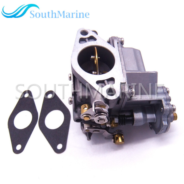 Boat Engine 66M-14301-12 Carburetor Assy and 66M-13646-00 Gaskets (2 pcs) for Yamaha 4-stroke 15hp F15 Electric Start Outboard