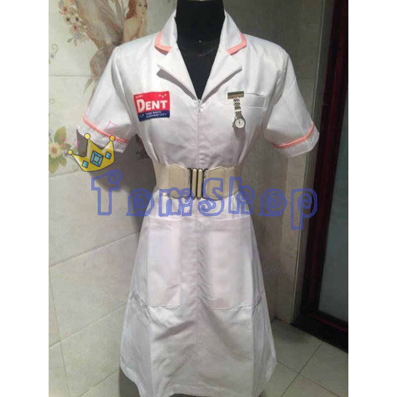 Image 2 - Batman Dark Knight Joker Nurse Dress Uniform Halloween Nurses Outfit Costumes Custom Made-in Movie & TV costumes from Novelty & Special Use