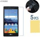 cunzhi 5pcs High Clear LCD PET Material Screen Protector Film For LG K8V VS500 Protection Ultra Slim
