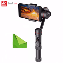 Zhiyun Smooth III Smooth3 3 Axis Handheld Gimbal Camera Mount for Smartphones For iPhone 7 6 Plus 6 5S 5C Samsung S 6 5 4 3 Gift