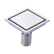 304 Stainless Steel Drain Floor Strainer 11X11Cm Square Invisible Bathroom Floor Drain Waste Grate brushed Deodorization