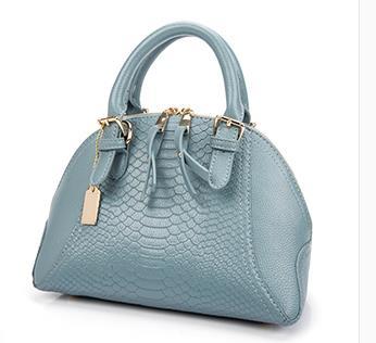 ФОТО  Hot sale high quality crocodile grain women's handbag fashion  for  bag women's handbag one shoulder messenger bag 2016