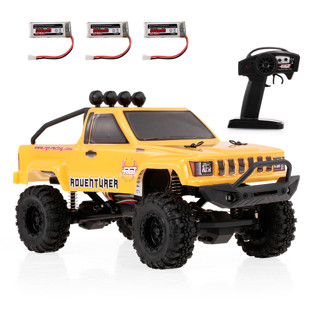 RGT Car 136240 1:24 RC Cars 2.4G 4WD 15KM/H RC Rock Crawler Off-road Buggy w/ 3 Batteries Outside RC Toys hongnor ofna x3e rtr 1 8 scale rc dune buggy cars electric off road w tenshock motor free shipping