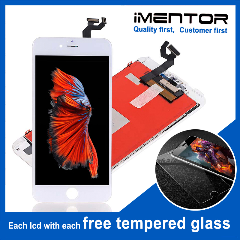 10pcs AAA for iphone 6s plus lcd touch screen digitizer with sensor and camera holder free