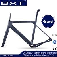 2018 חדש BXT חצץ פחמן מסגרת אופני כביש aero או חצץ Cyclocross בלם דיסק מסגרת MTB 142x12 מ