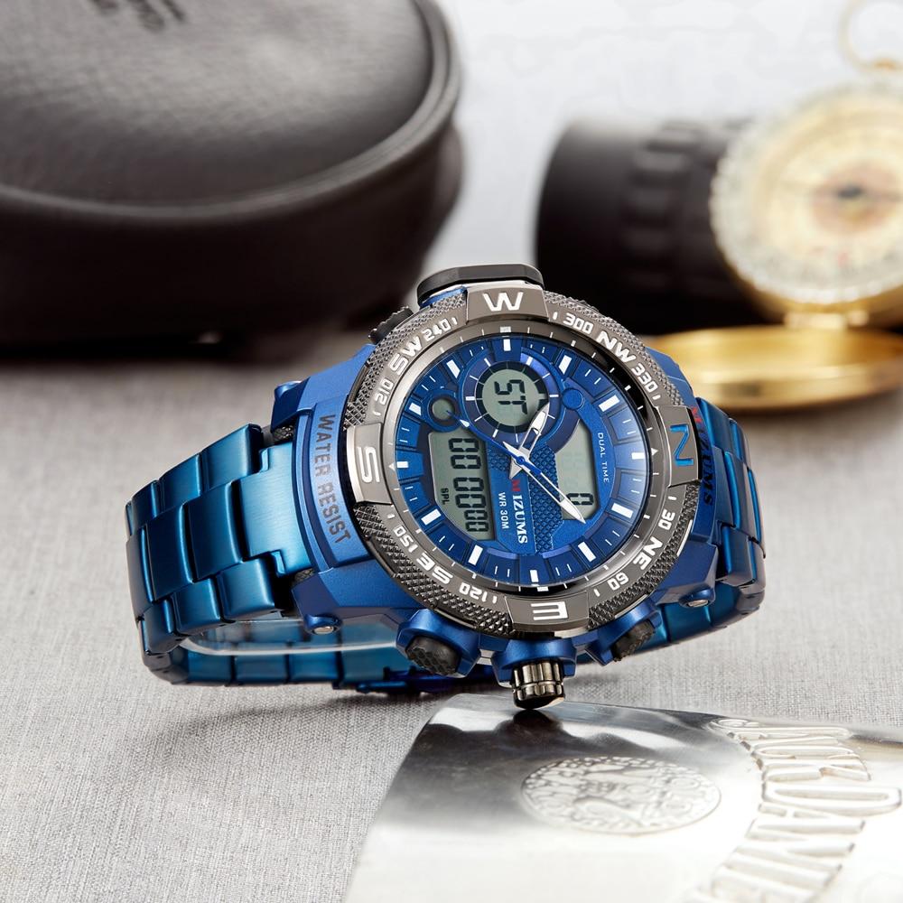 Image 2 - Top Luxury Brand MIZUMS Men Military Waterproof Digital Sport Watches Mens Clock Male Wrist Quartz Watch Relogio Masculino XFCS-in Quartz Watches from Watches
