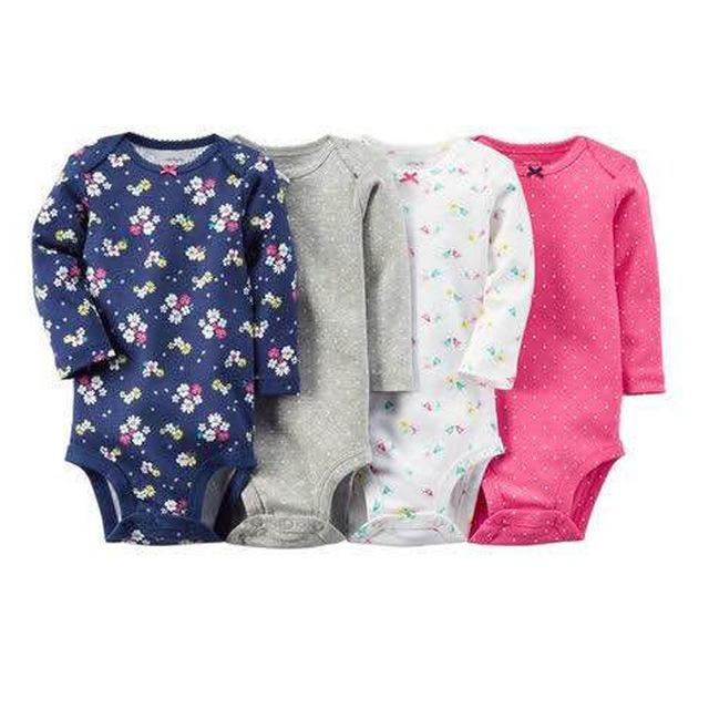 Carter4pcs/lote primavera outono curto sleeve4piece de bebes conjunto original do bebê da menina do menino roupas definir bebê recém-nascido bodysuit kids clothing