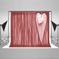 Photography Backdrops Suspended White Love Background for Photo Striped Wooden Walls Children Background for Photographic Studio