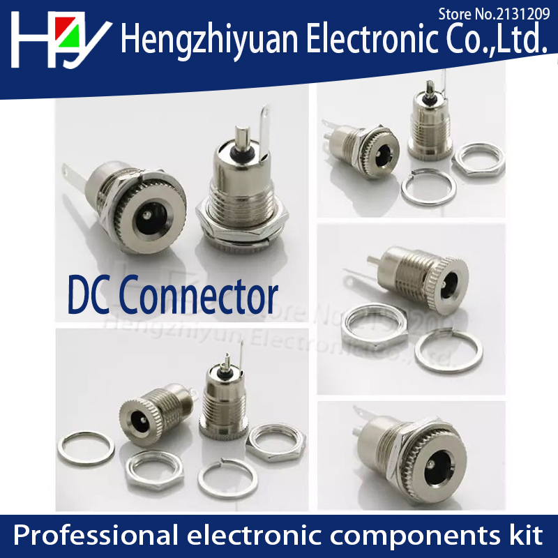 Hzy 5 5 mm x 2 1mm DC Power Jack Socket Female Panel Mount Connector C1Hot New Arrival DC 5A 30V 5 5 mm x 2 5mm Waterproof cap in Connectors from Lights Lighting